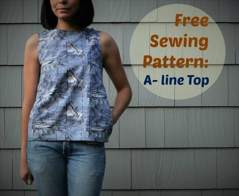 Free Sewing Pattern A Line Top Cuttings Free Pattern And Sewing