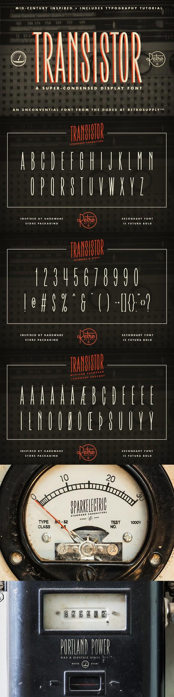 Transistor Font | FREE Download. Display Fonts. $10.00