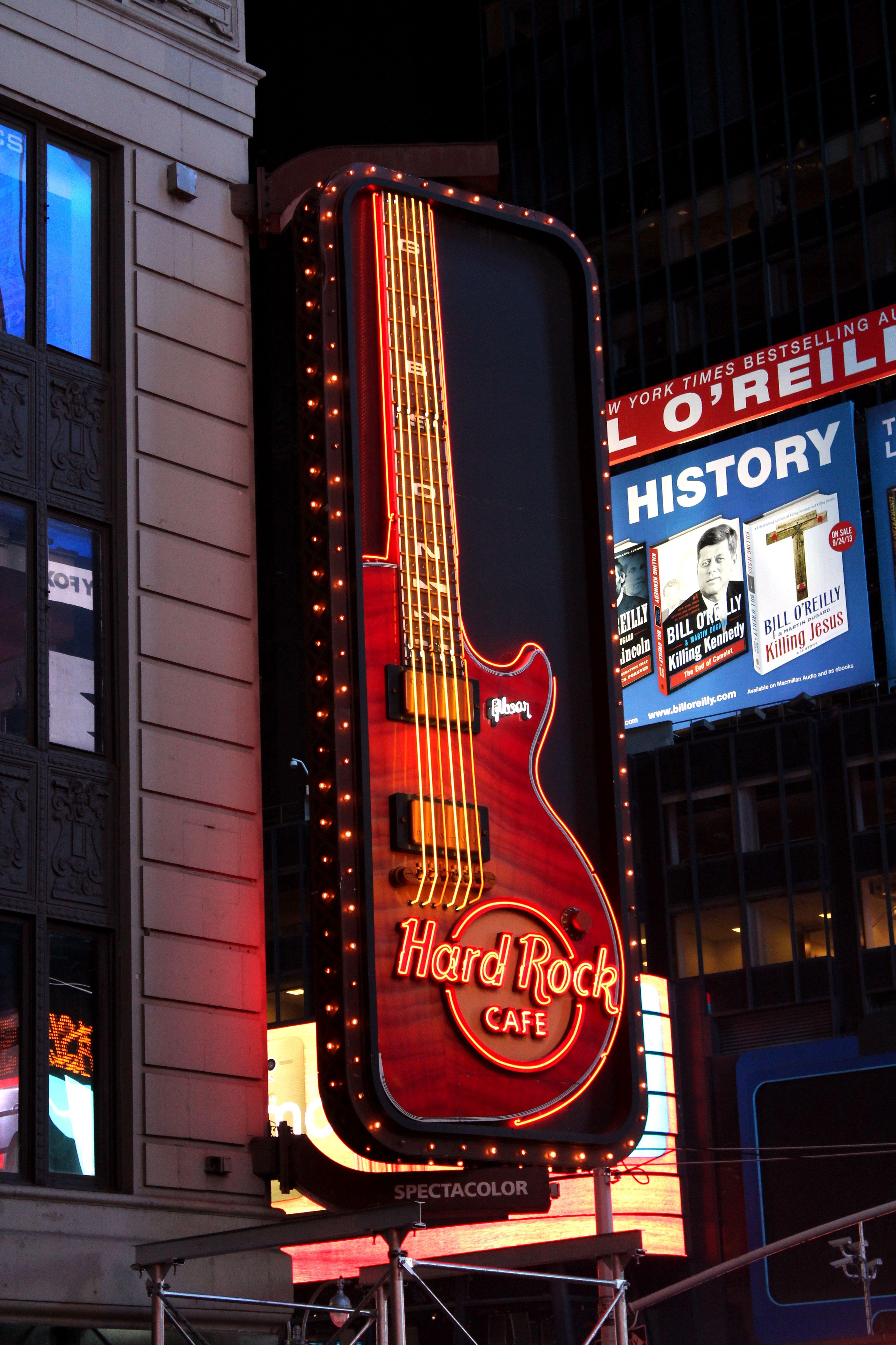 Hard Rock Cafe New York 1501 Broadway New York NY Pinterest