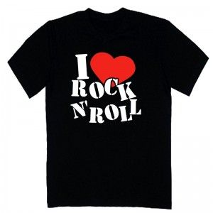 e87fca7ae74a0 T-shirt rock   I love ROCK n ROLL - Rock and roll
