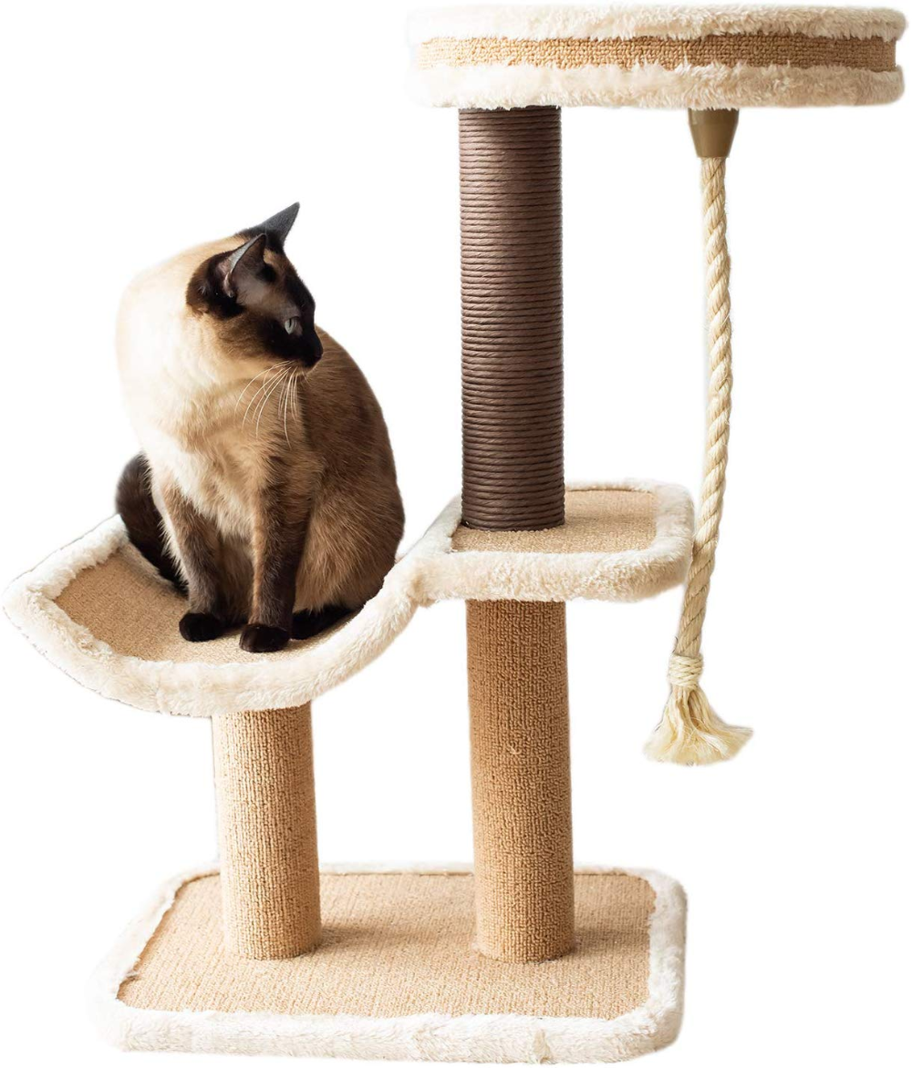 Amazon Com Catry Cat Tree Cradle Bed With Natural Sisal Scratching Posts And Teasing Rope For Kitten Pet Supplie Cradle Bedding Natural Sisal Cat Activity