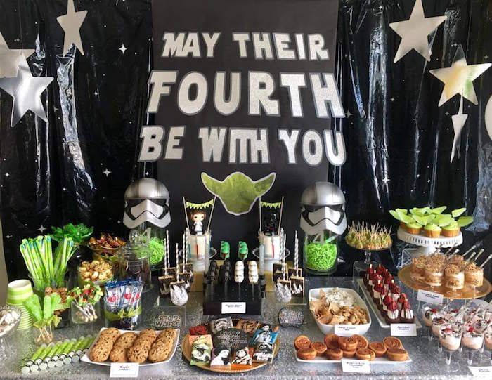 May Their Fourth Be With You Star Wars 4th Birthday Party For Twins 4th Birthday Party For Boys 4th Birthday Parties Star Wars Birthday Party
