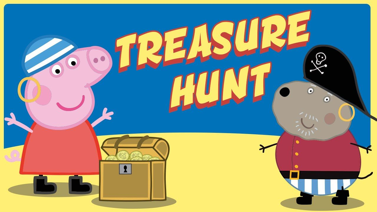 Peppa Pig Painting - Pirate Treasure Hunt Peppa Pig and Granddad Dog Col...