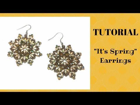 "Tutorial perline: orecchini ""It's Spring"" con superduo - YouTube"