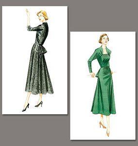 patrons de couture, robe boléro, à basque