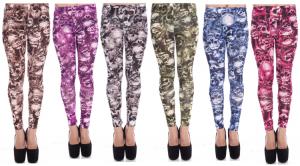 Colored Skull Leggings