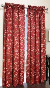 amazon com s lichtenberg 54 by 84 inch solar curtain panel brick rh pinterest com au