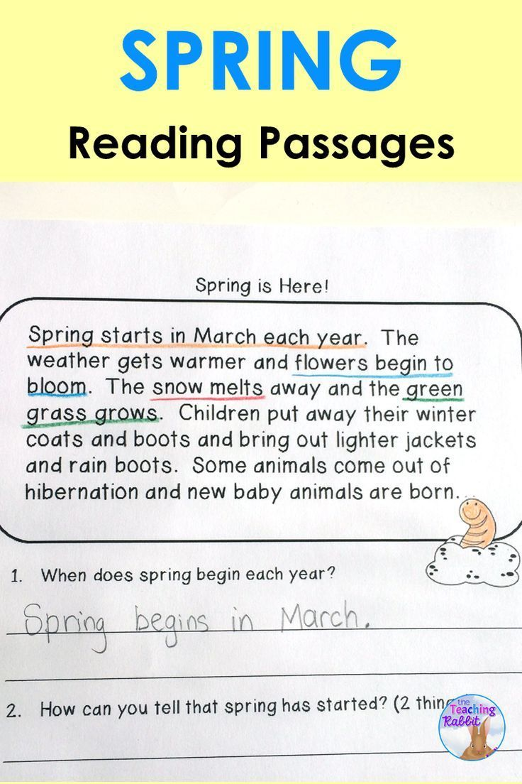 - Spring Reading Comprehension Passages Reading Comprehension