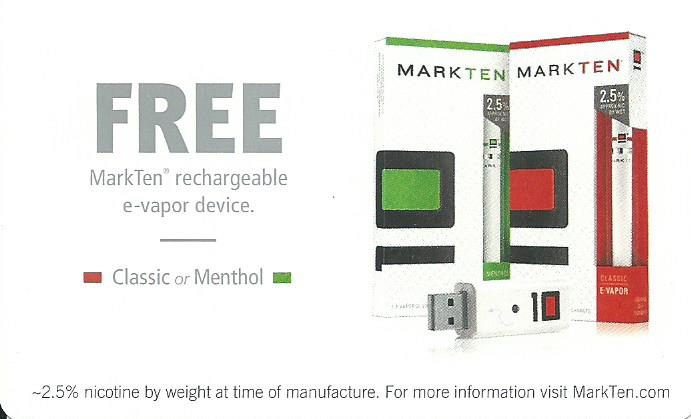 graphic relating to Markten Printable Coupon identified as Mark 10 Rechargeable e-vapor product Absolutely free Coupon I dunno