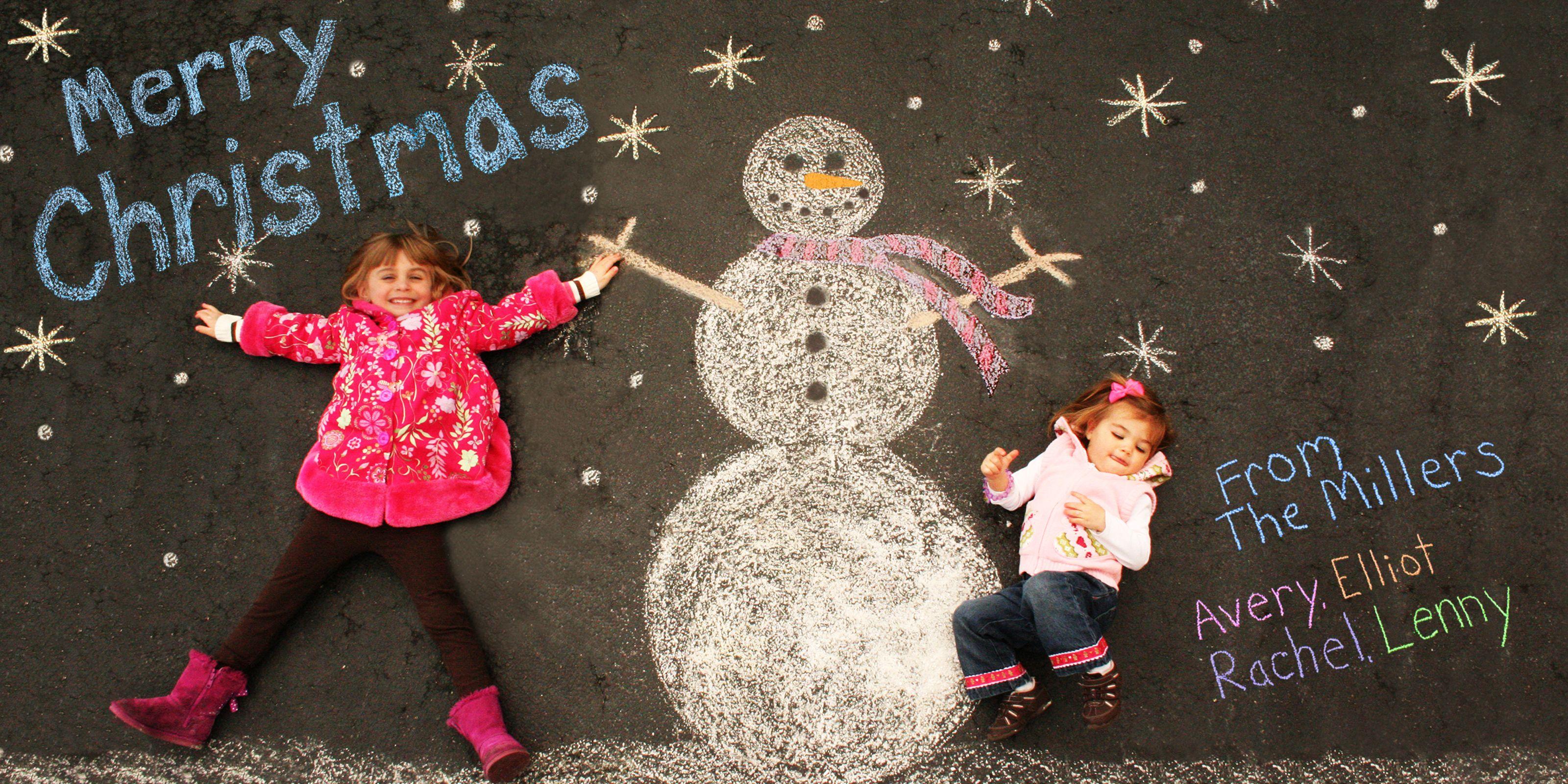 sidewalk chalk christmas card pennfoster bemorefestive. Black Bedroom Furniture Sets. Home Design Ideas