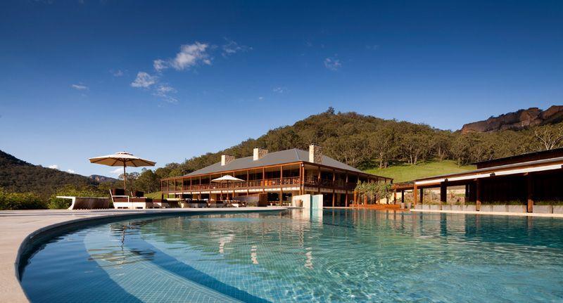 Wolgan Valley Resort & Spa, Blue Mountains - pool and main lodge