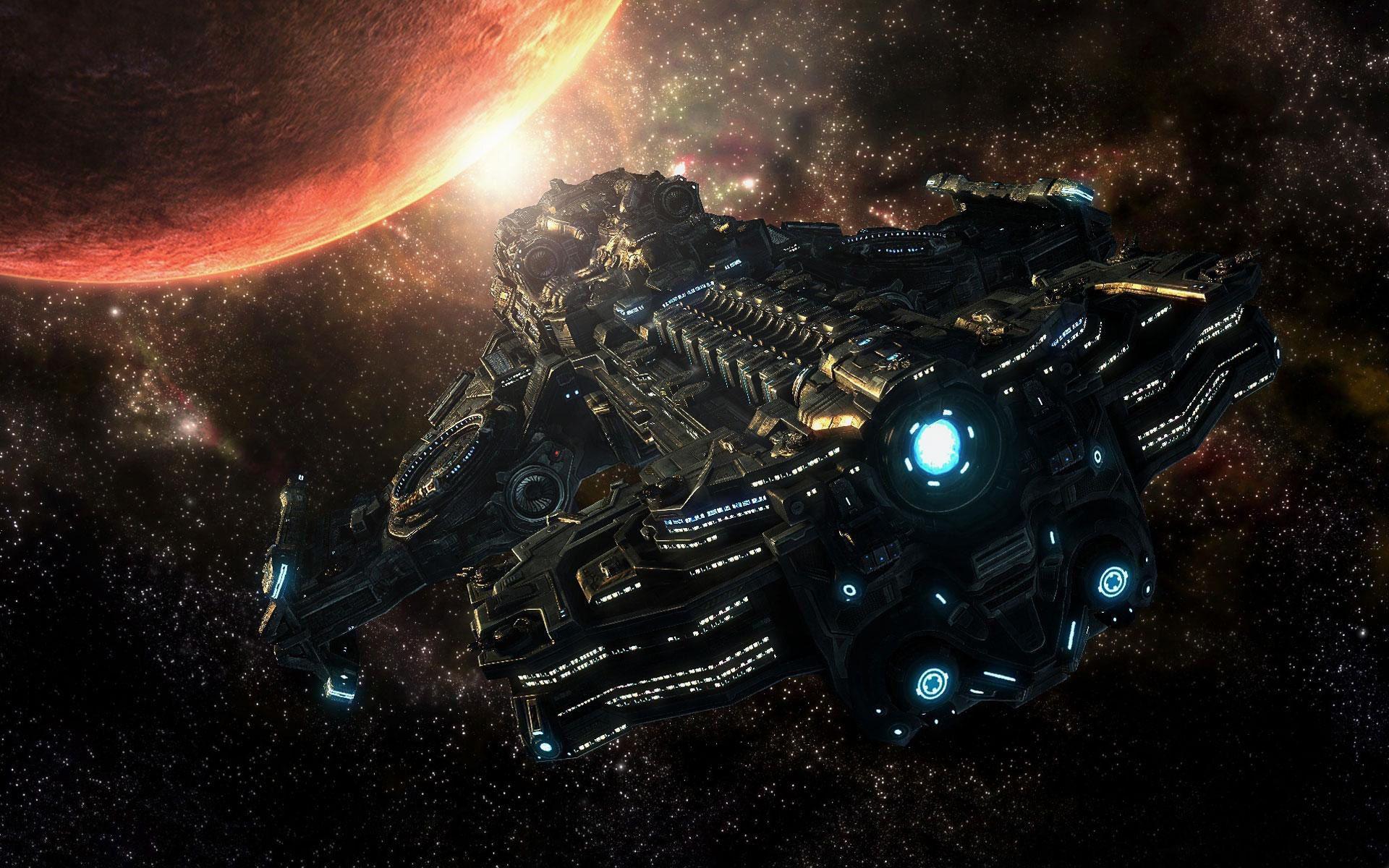 spaceship hd wallpaper futuristic spaceship starcraft starcraft rh pinterest com