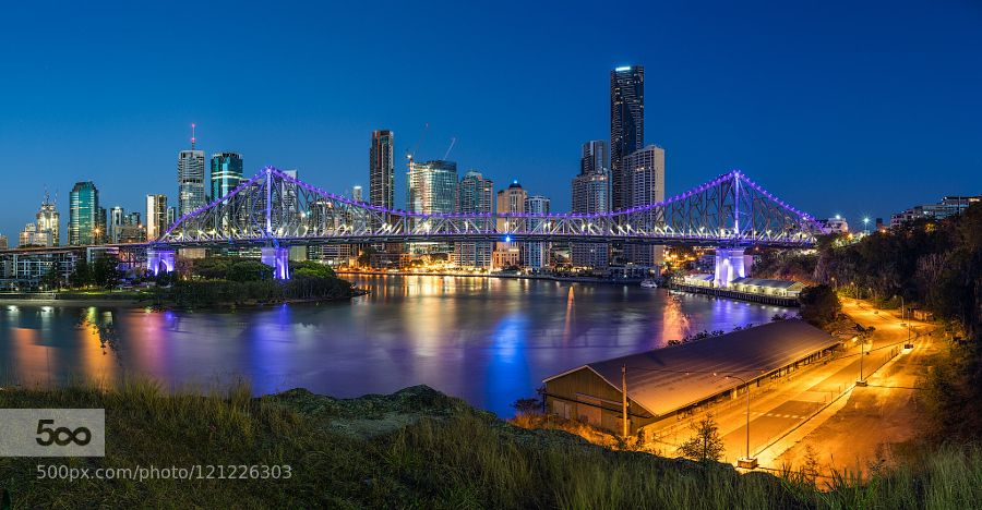 Colour Dance I would like to present to you my official first image from my new Sony a7rII !!!!! EXCITING!  So I decided to head into Brisbane city to shoot the StoryBridge from Wilsons Outlook New Farm. Knowing full well that it was a clear morning but I've always liked the city skyline from here with clear skies something soothing and peaceful about it.  This image isn't actually what I went there for but I have fallen in love with the colours!!  This just has basic Lightroom adjustment…