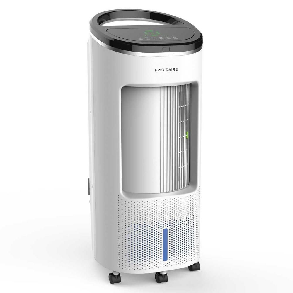Frigidaire 500 Cfm 4 Speed 2 In 1 Evaporative Cooler Swamp Cooler And Fan With Wide Angle Oscillation For 250 Sq Ft White Ec200wf In 2020 Evaporative Cooler Swamp Cooler Evaporative Air Cooler
