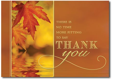 Thanksgiving appreciation with leaves by outfront holiday cards thanksgiving appreciation card cardsdirect style no thanksgiving greetings reheart Gallery