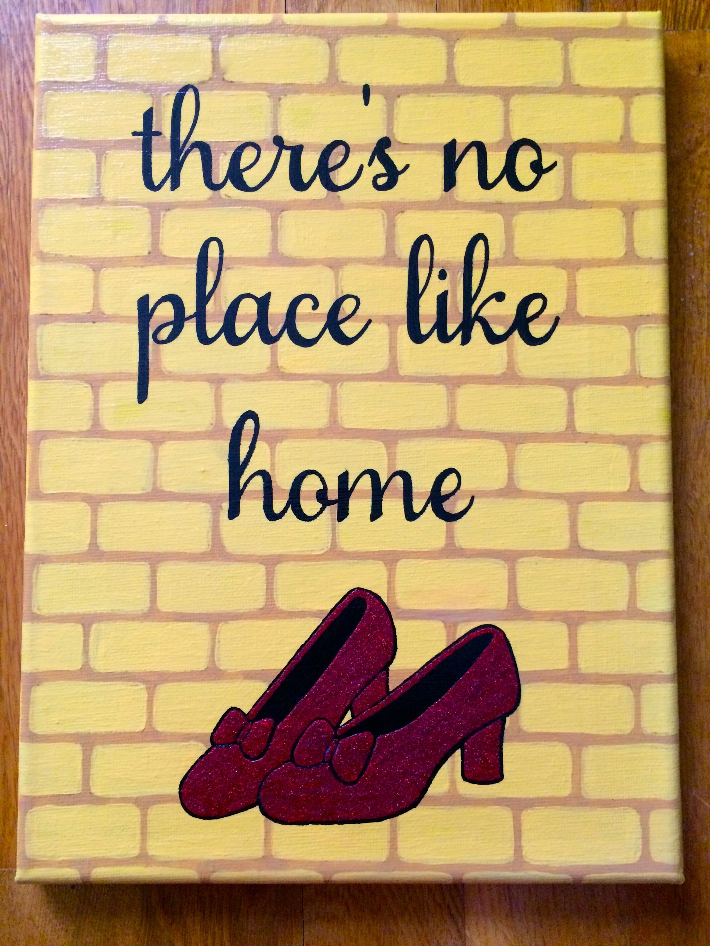 Theres No Place Like Home Wizard Of Oz Canvas