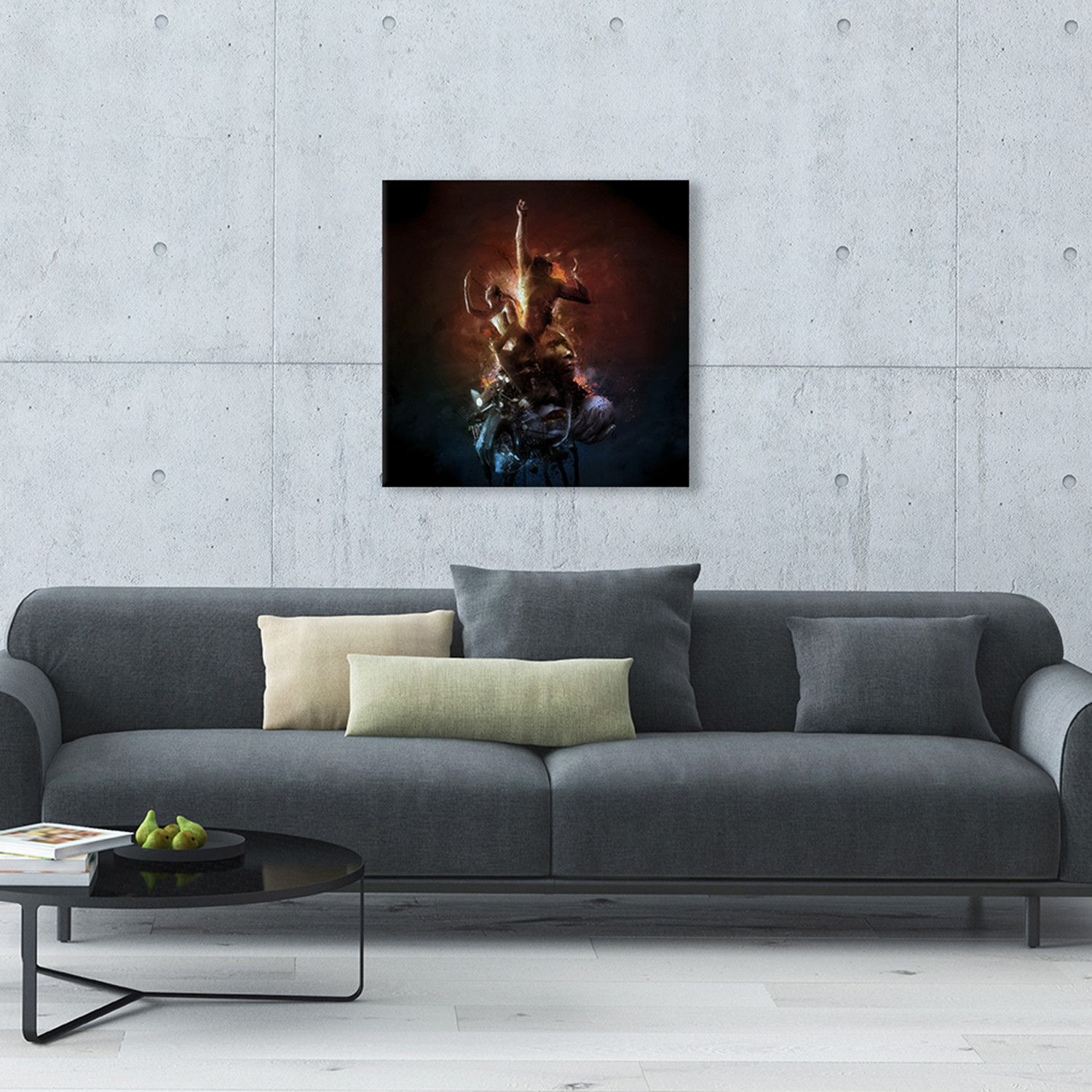 living room art prints%0A Hell Are The Others Make a statement with this vivid and striking Hell Are  The Others