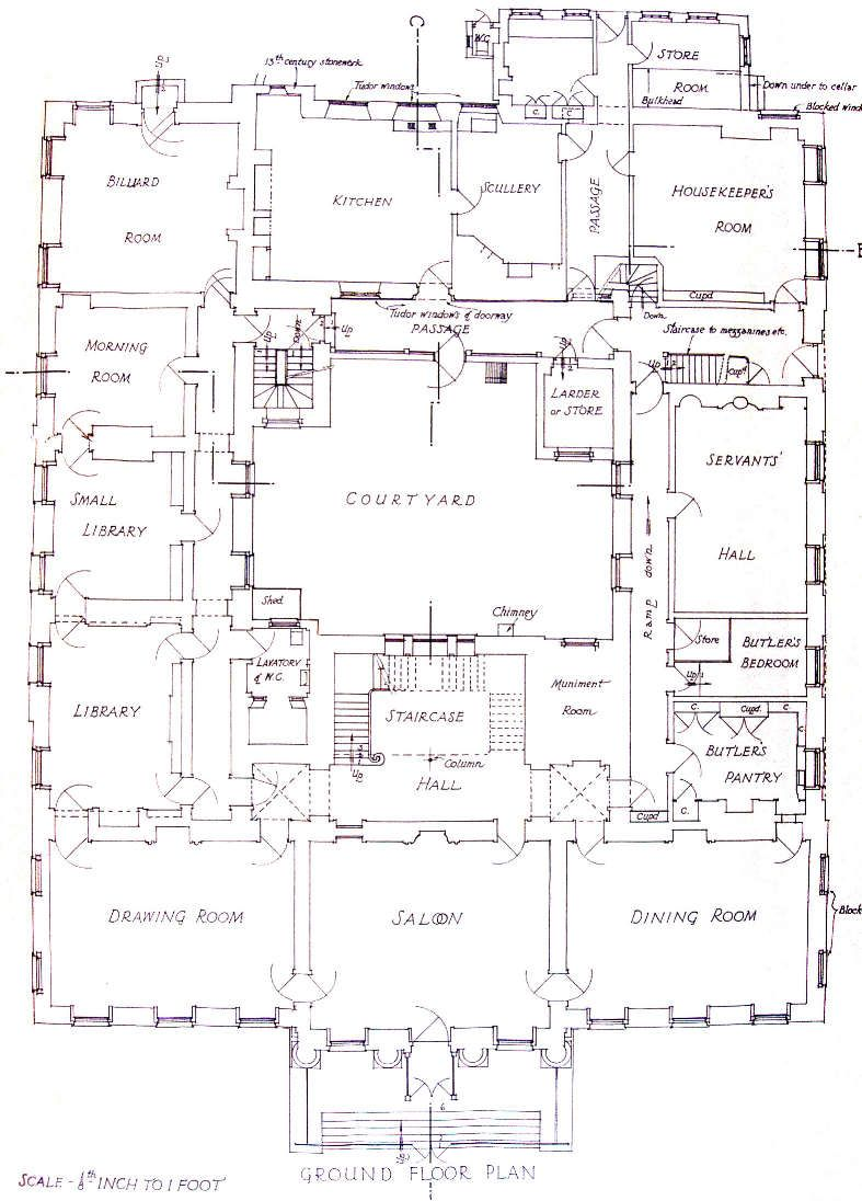Redgrave Hall Ground Floor Plan The Hall No Longer Exists Mansion Plans Mansion Floor Plan Architectural Floor Plans