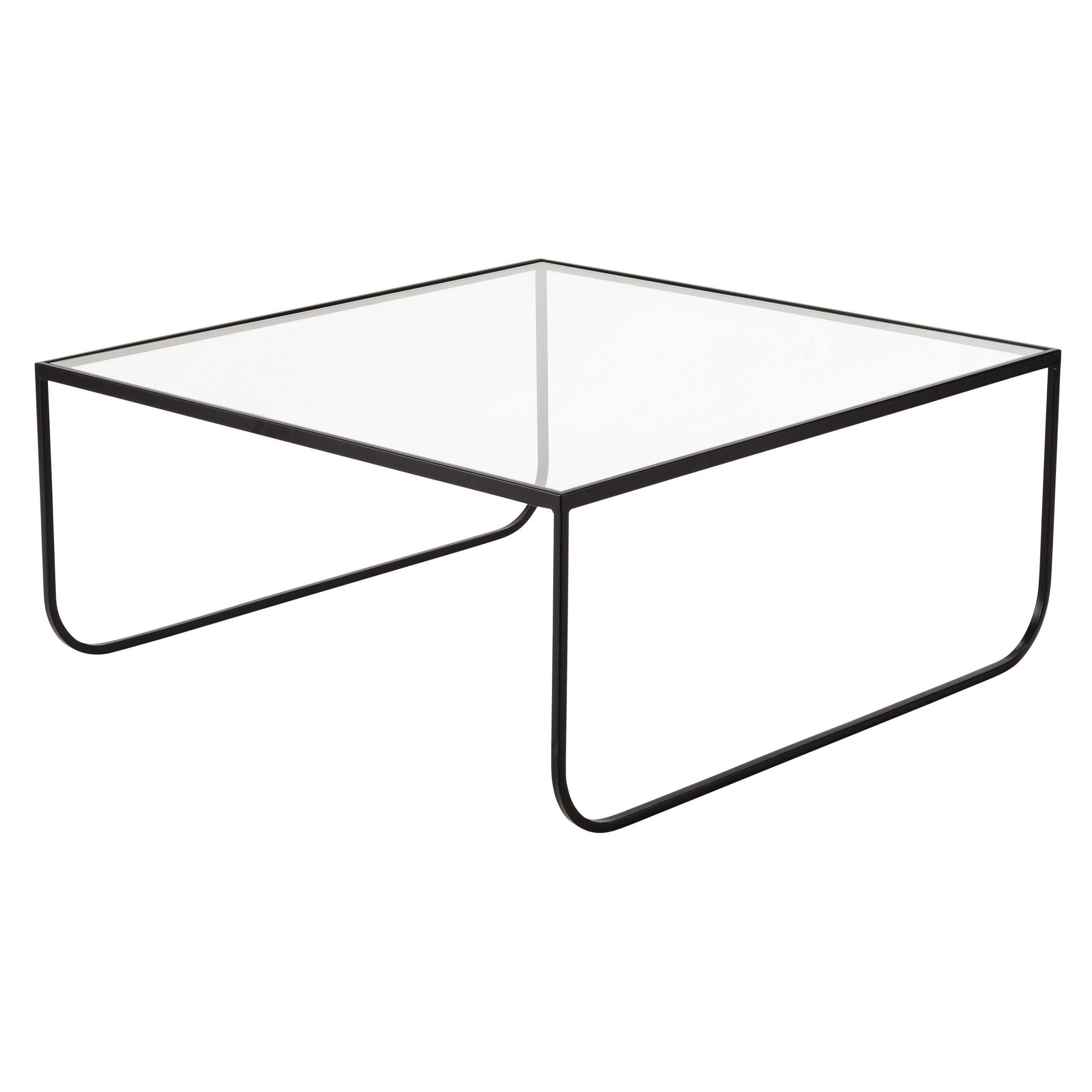 Metal and tempered glass square coffee table W 90cm Dixon | Maisons du Monde