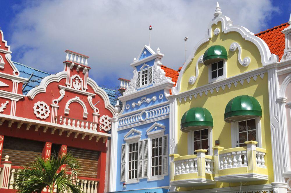 Center square in Oranjestad Aruba Caribbean windward