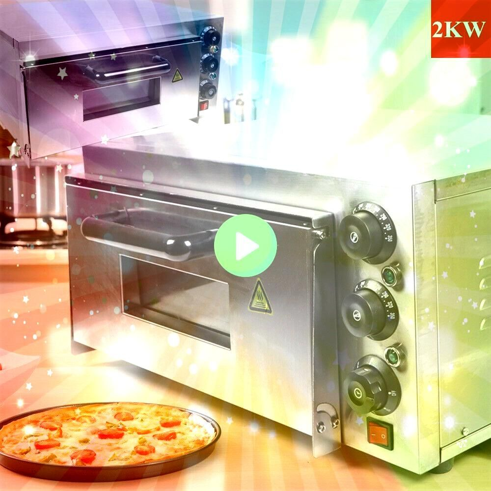 Deck Electric 2KW Pizza Oven Ceramic Stone Toaster Baking Bread 110V NEW  Ovens  Ideas of OvensSingle Deck Electric 2KW Pizza Oven Ceramic Stone Toaster Baking Bread 110V...