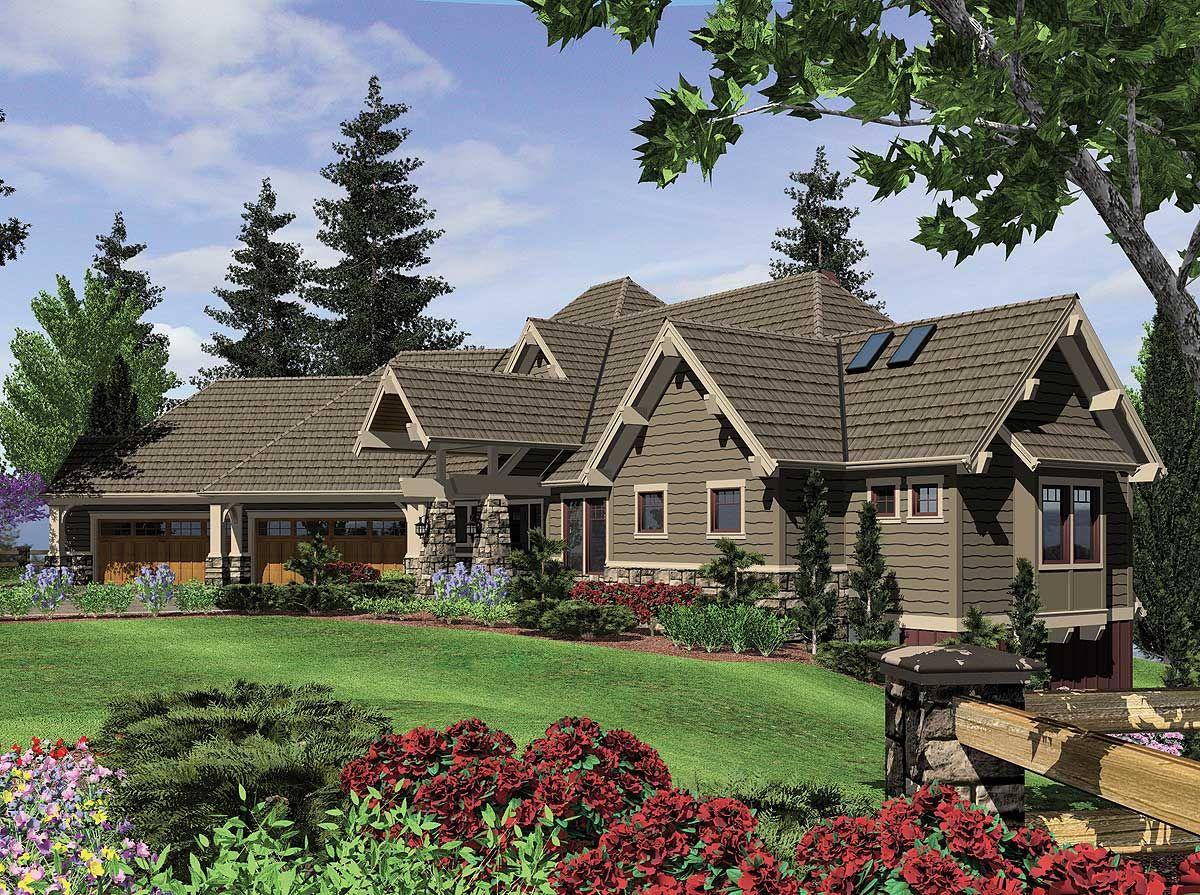 award winning home plan 6969am 1st floor master suite butler rh pinterest com