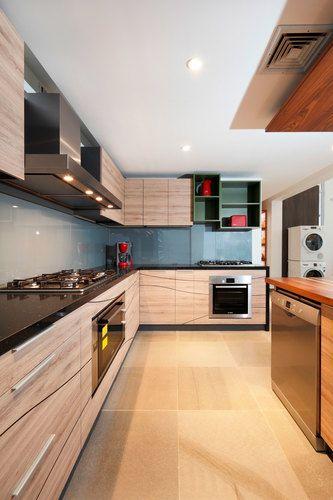Salpicadero de vidrio serigrafiado gris - Cocina de Hielo Sur Diseño
