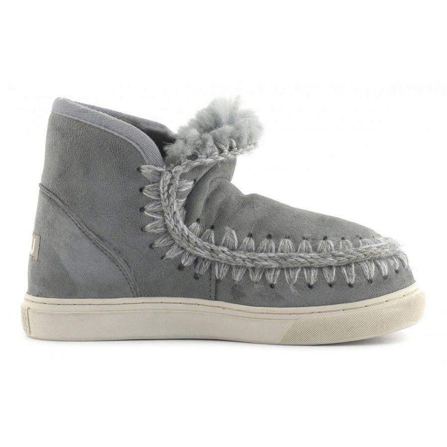 Mou Grey Mini Eskimo Sneaker Boots BytwnyoWj