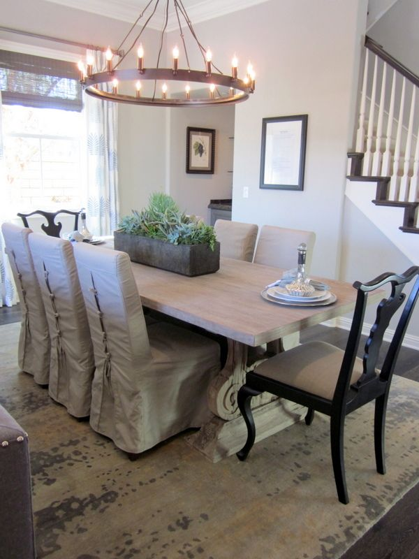 Dining room chandelier for farmhouse HomeGoods