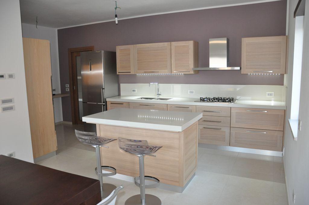 cocina moderna blanca con isla | home | Pinterest | Cocina moderna ...