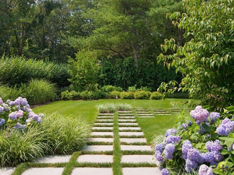 Camminamento Giardino Fai Da Te.Idee Per Il Giardino Fai Da Te Camminamento Con Lastre Di Cemento E