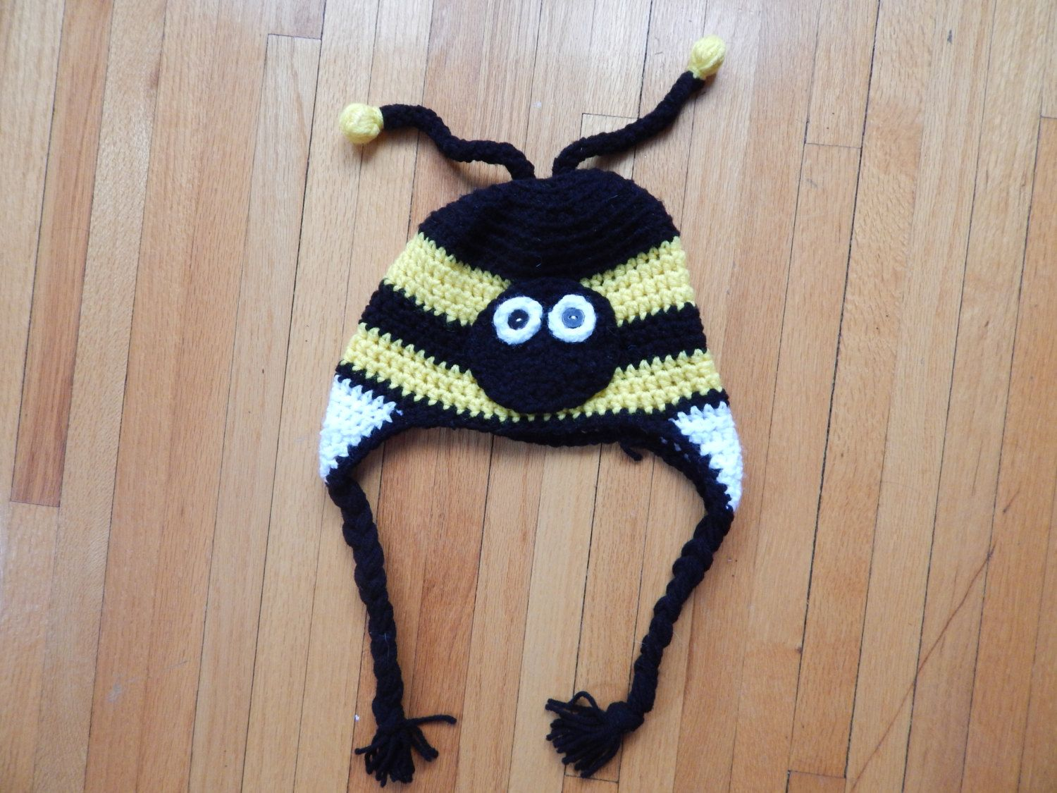 Crochet Bumble Bee Hat For Toddler By Crochethatsandscarfs On Etsy