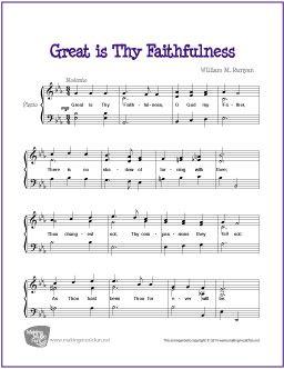 Great Is Thy Faithfulness Free Sheet Music For Piano Sheet Music