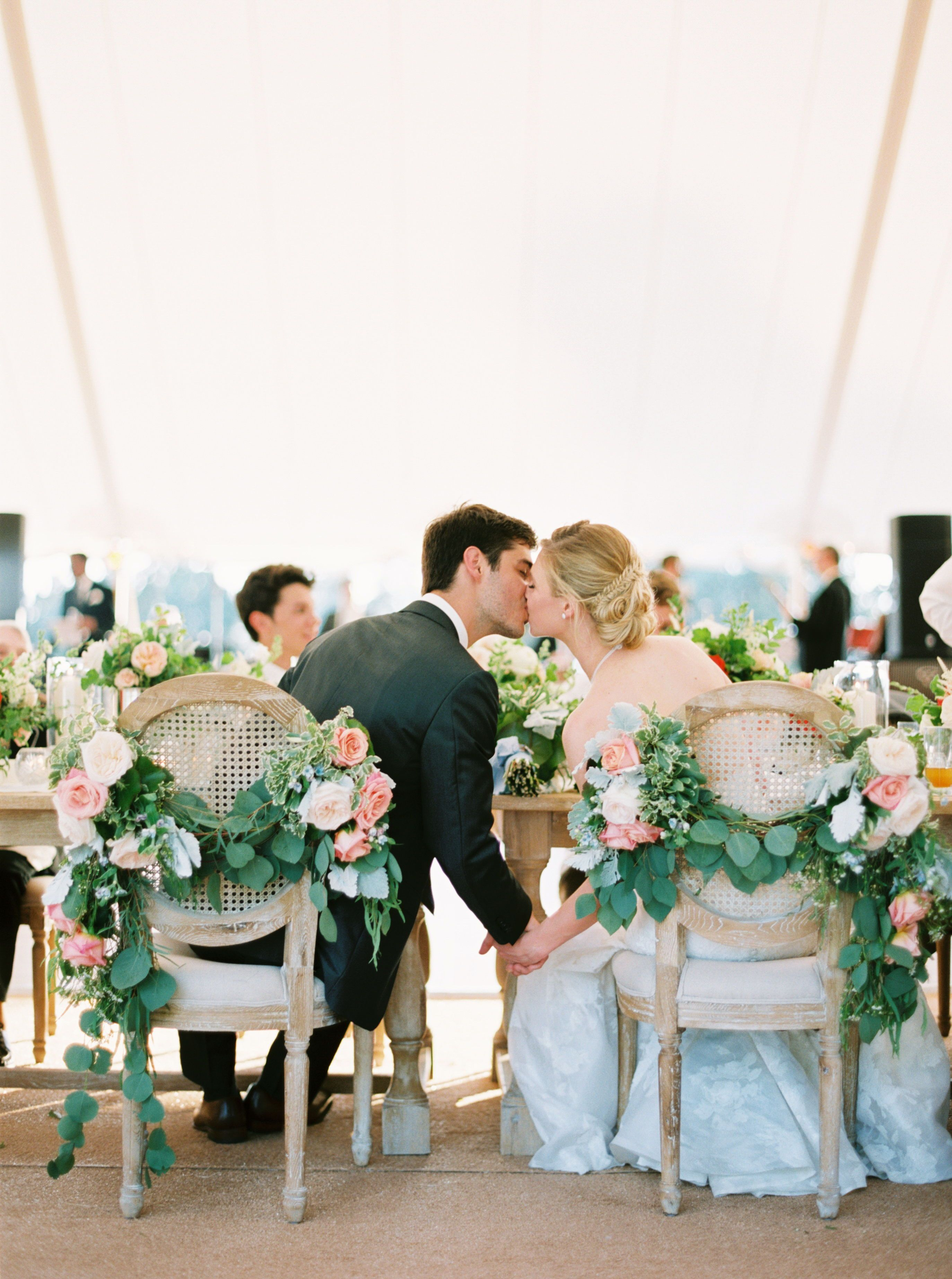 romantic floral wedding sweetheart seating chairs rentals white rh pinterest com