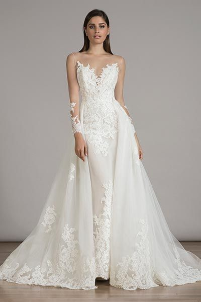 Top 10 Wedding Dresses With Detachable Skirts | Gowns, Wedding dress ...