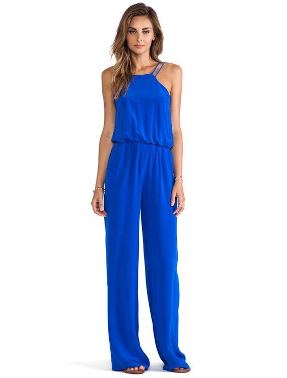 c71adaa1be Karina Grimaldi Somalia Jumpsuit in Blue from Revolve Clothing | My ...