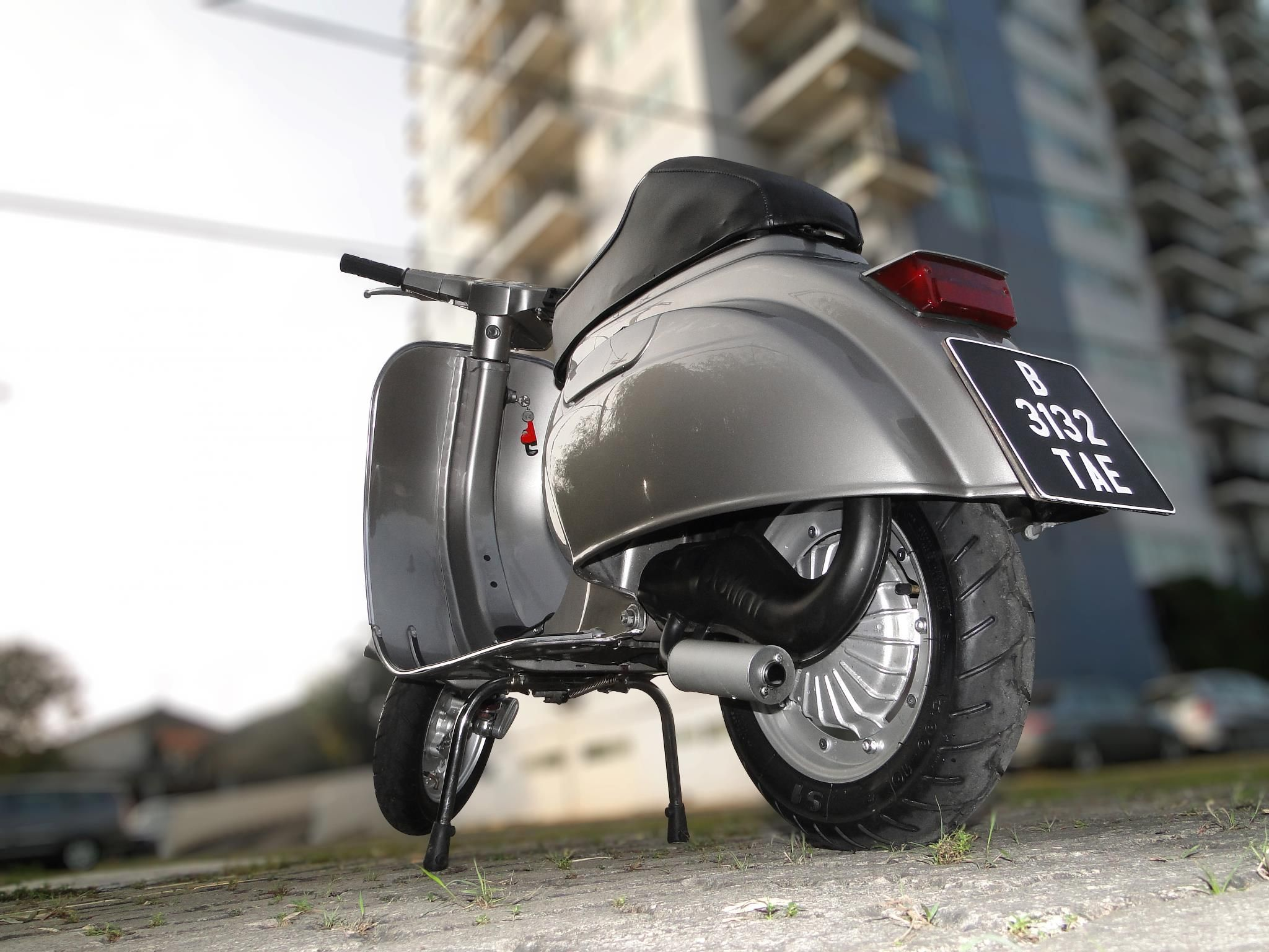 Vespa 100 Small Frame With 130cc Polini Cylinder