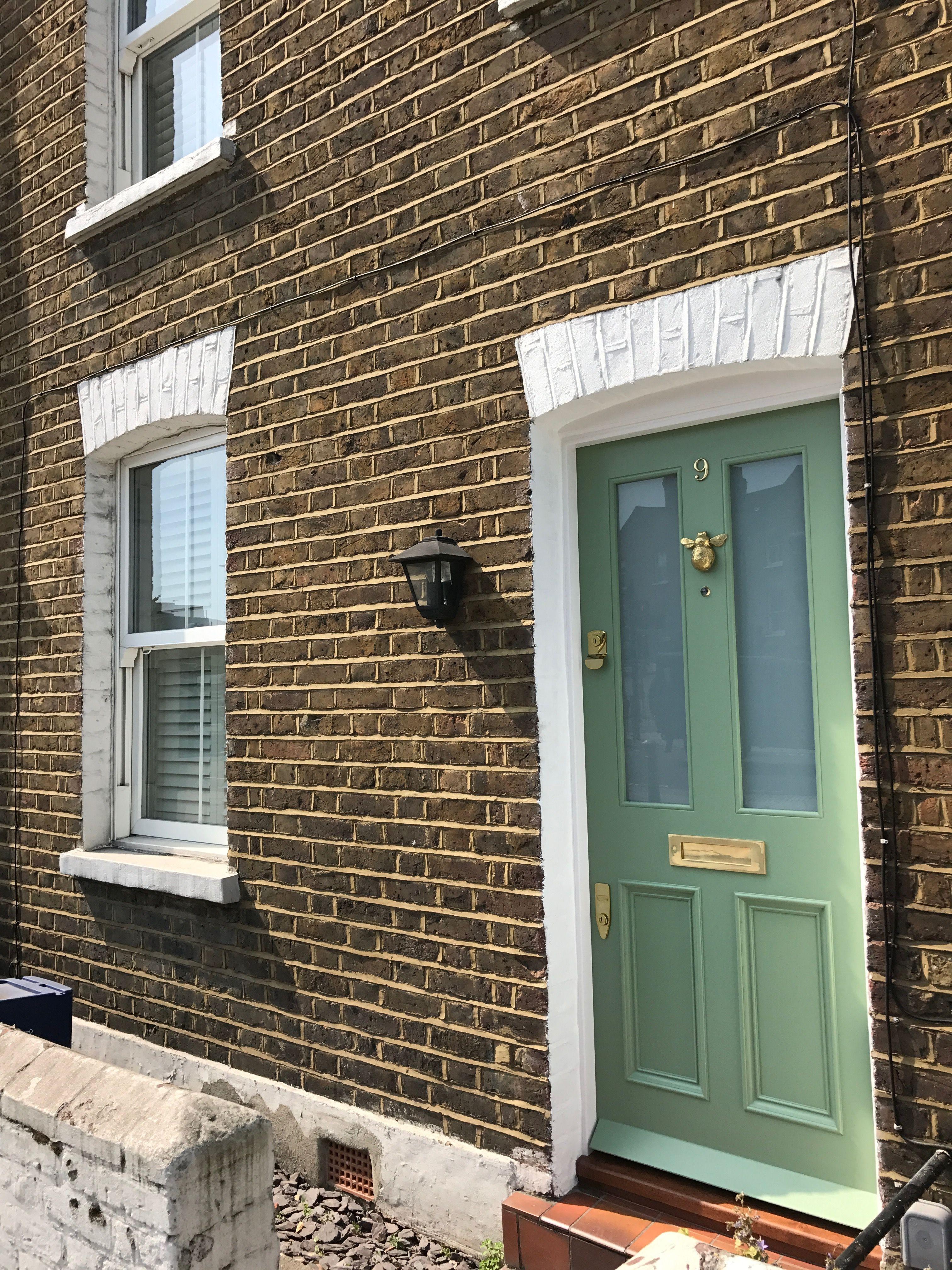 Amazing Light Green Period Front Door Installed In London London