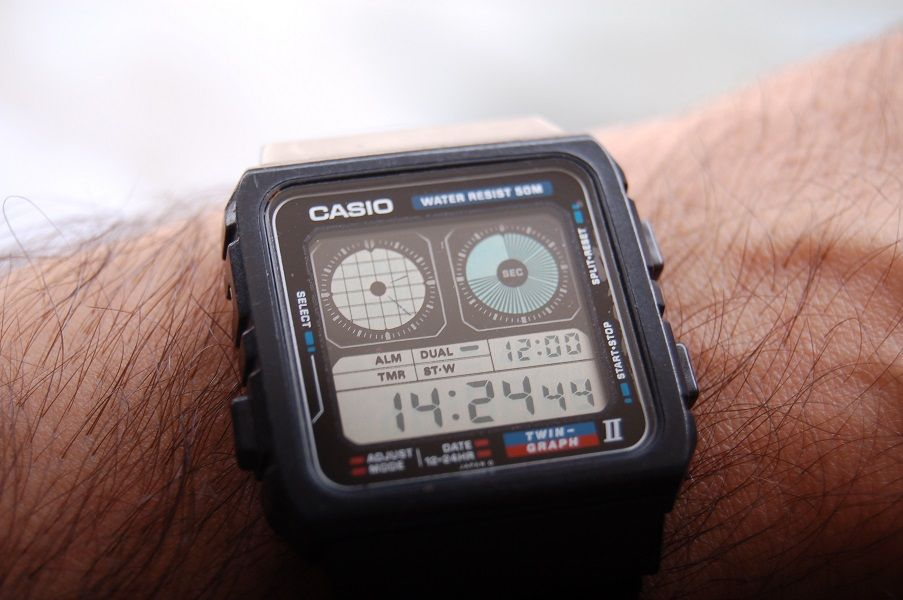 2a61e161a243 Casio AE-21W Twin Graph II Wrist Watch Casio Vintage Watch