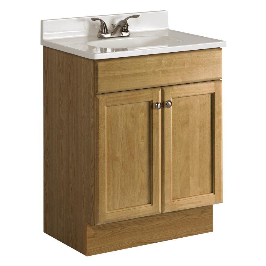 project source oak integral single sink bathroom vanity with rh pinterest com