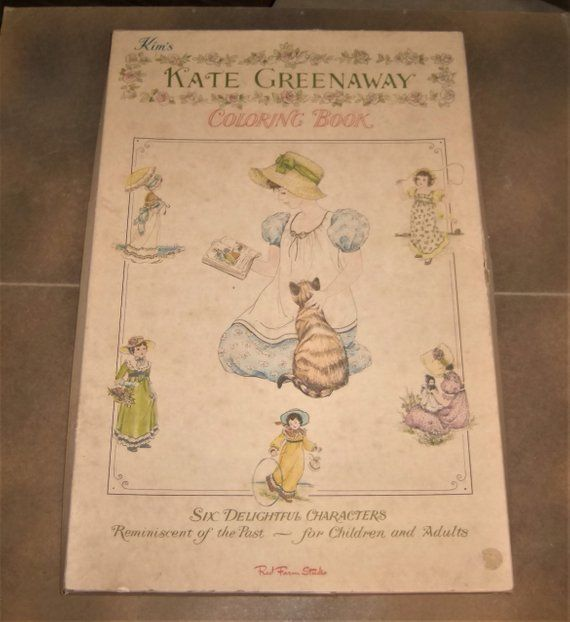 KATE GREENAWAY Coloring Book Antique Dolls To Color Kim\'s Red Farm ...