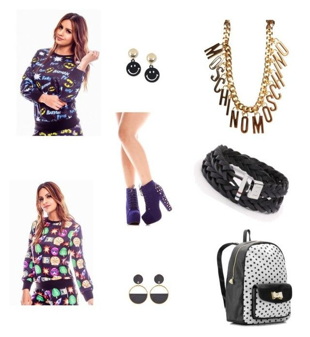 """""""hi"""" by snow-75 ❤ liked on Polyvore featuring Betsey Johnson, Moschino and Marni"""