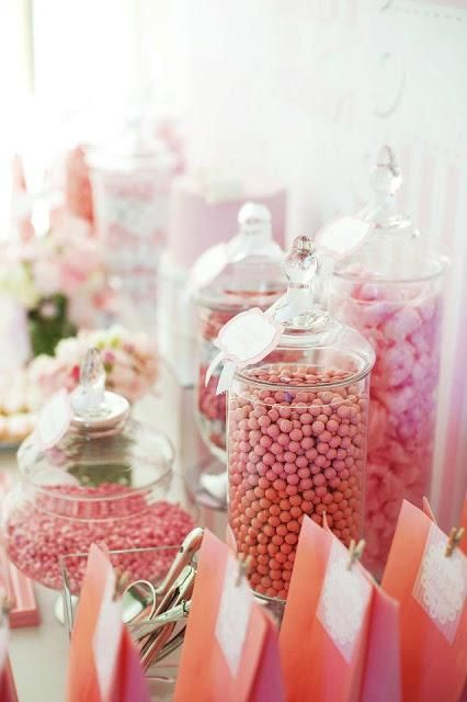 pink and white baby shower by life is sweet candy buffets kelsey rh pinterest it