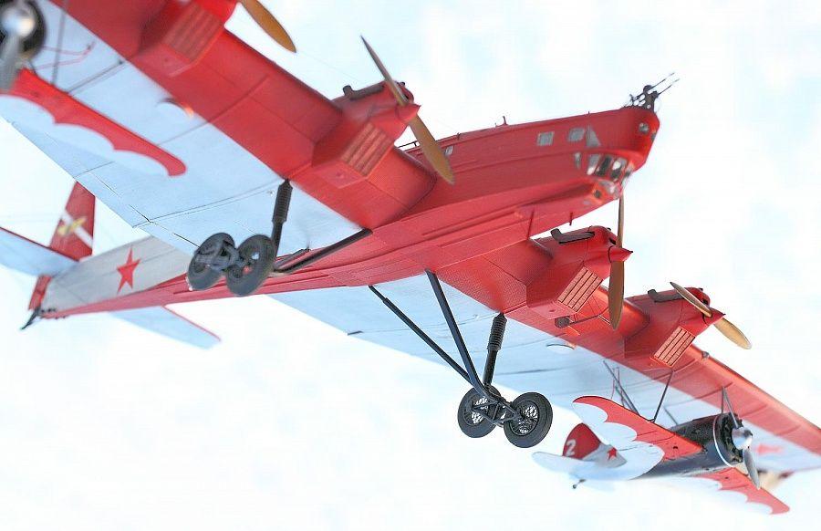 Тяжелый бомбардировщик ТБ-3 (АНТ-6) | 582x900