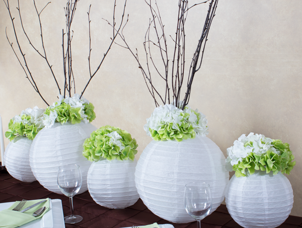 Create a stunning elongated centerpiece using paper
