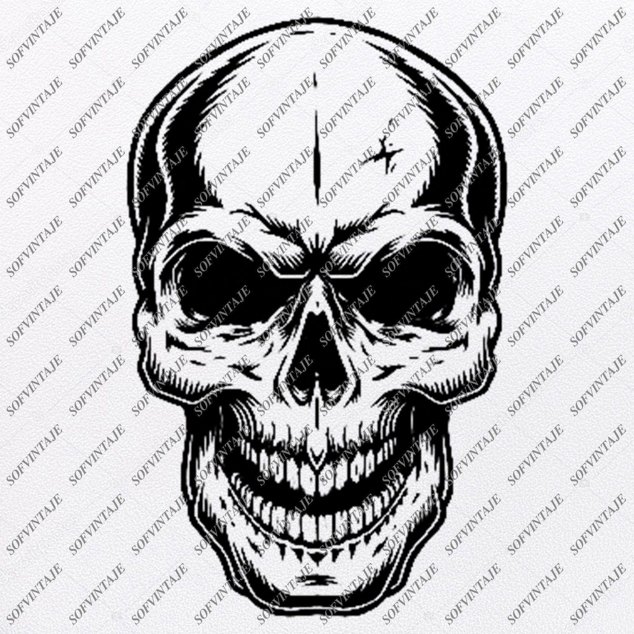 Skull Svg FileSkull Svg Design ClipartTattoo Svg File