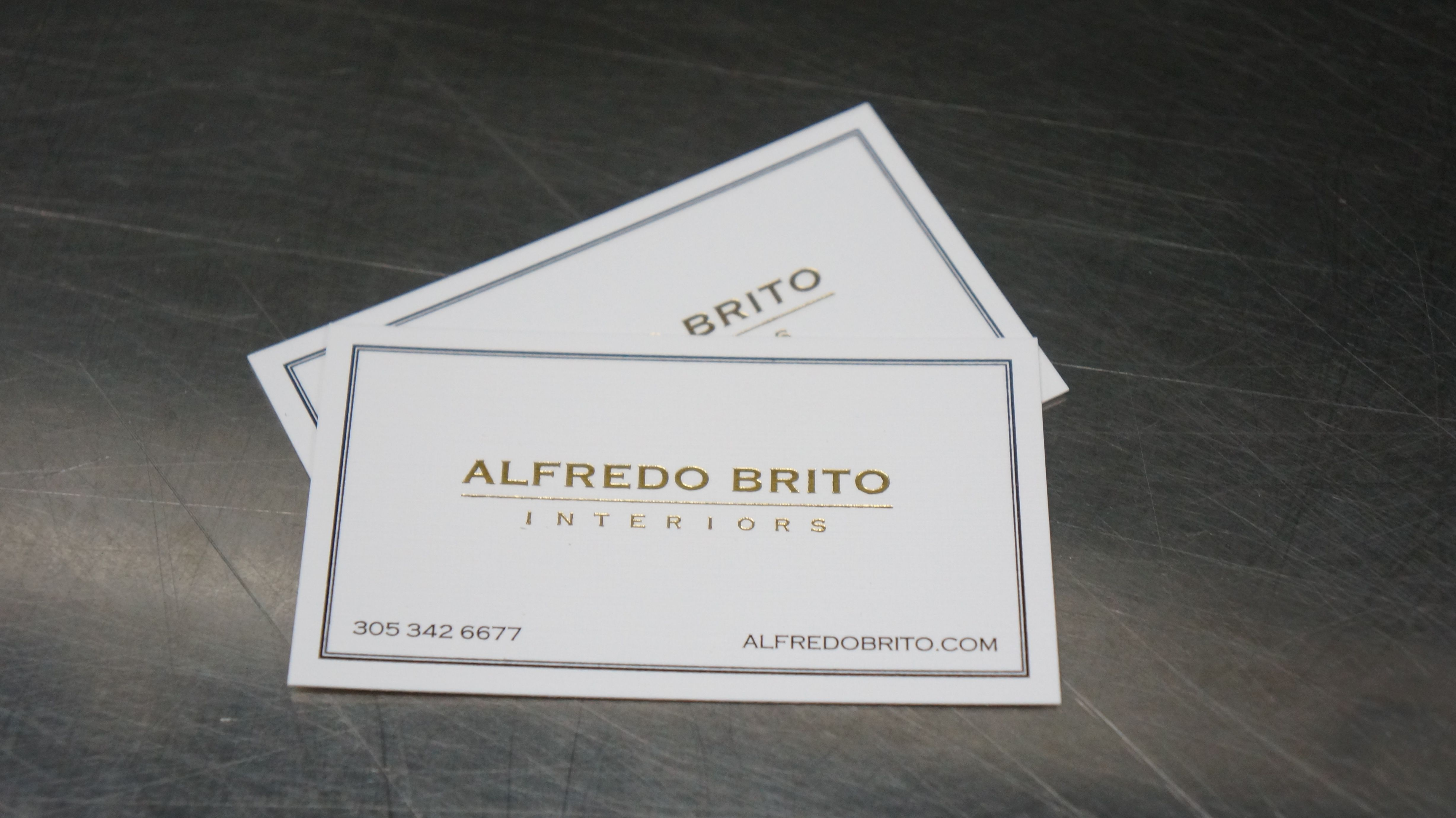 210lb double thick classic linen business cards with gold foil