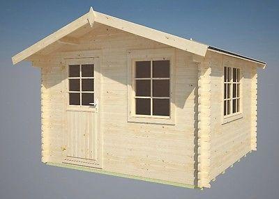 34 mm Gartenhaus Mosel + Fussboden Gerätehaus Blockhaus