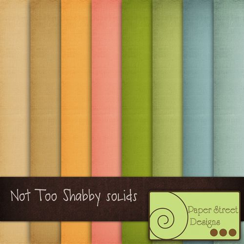 Not To Shabby Solids  - Free Digital Papers from Paper Street Designs