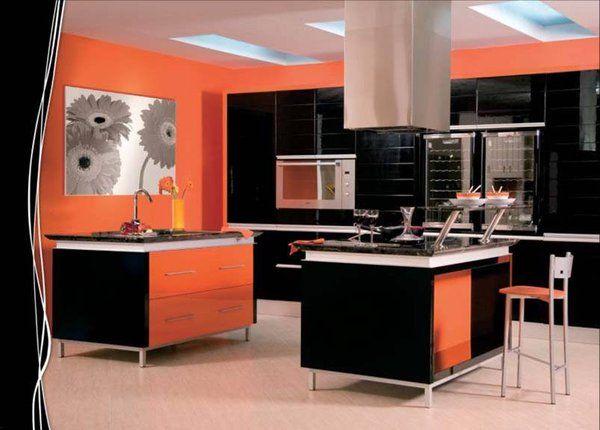 Dise o de cocinas cocinas modernas en color negro en for Cocinas en linea